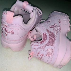 Fila Disruptor 2 pink embroidery size 10